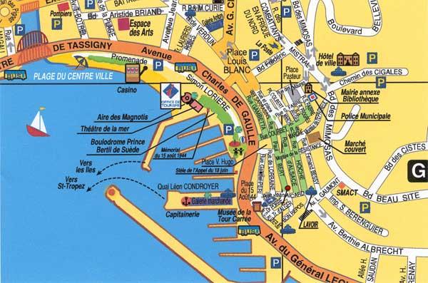kart franske riviera Den Franske Riviera kart franske riviera
